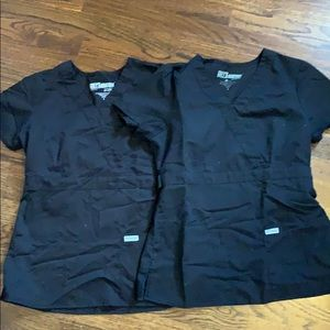 Black Grey's Anatomy scrub tops